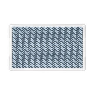 Teste padrão de Chevron dos azuis marinhos