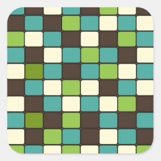 Teste padrão de creme bonito do azulejo de mosaico adesivo quadrado