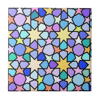 Teste padrão de estrelas de vidro do efeito da azulejo quadrado pequeno