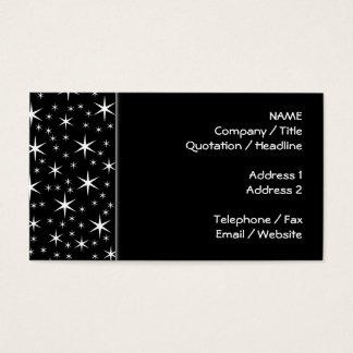 Teste padrão de estrelas preto e branco cartão de visitas