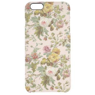 Teste padrão de flor à moda chique bonito do rosa capa para iPhone 6 plus transparente