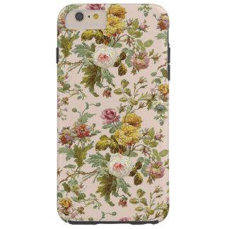 Teste padrão de flor à moda chique bonito do rosa capas iPhone 6 plus tough