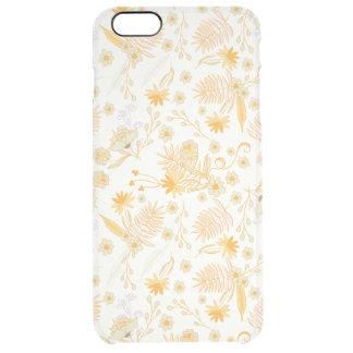 Teste padrão de flor amarelo capa para iPhone 6 plus clear