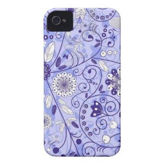 Teste padrão de flor azul capa iPhone 4 Case-Mate