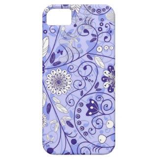 Teste padrão de flor azul capas para iPhone 5