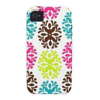 Teste padrão de flor bonito feminino floral do dam capa para iPhone 4/4S