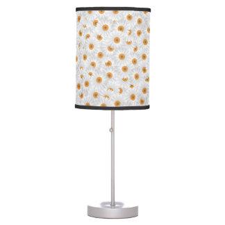 Teste padrão de flor branco da camomila luminária de mesa