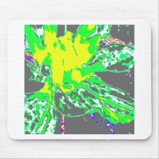 Teste padrão de flor floral verde abstrato da mouse pad