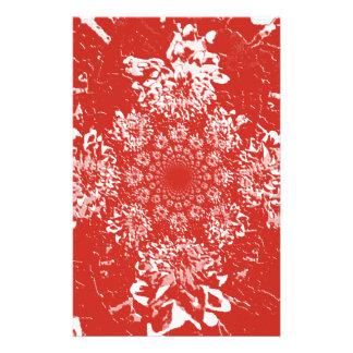 Teste padrão de flor floral vermelho elegante da papelaria