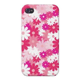 Teste padrão de flores cor-de-rosa elegante & femi capa iPhone 4