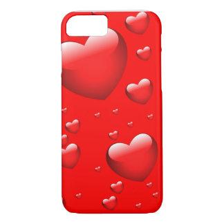 Teste padrão de flutuação dos corações capa iPhone 7