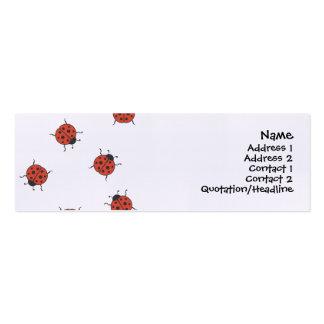 Teste padrão de Ladybugz Cartoes De Visita