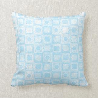 Teste padrão de mosaico azul retro das bolinhas travesseiro