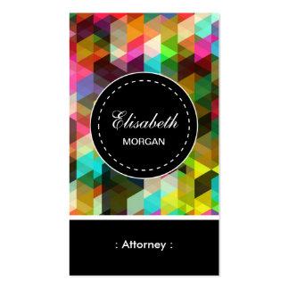 Teste padrão de mosaico colorido do advogado cartão de visita