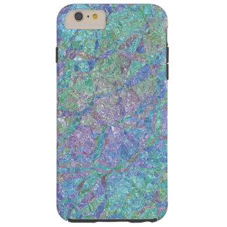 Teste padrão de mosaico de mármore chique moderno capa tough para iPhone 6 plus