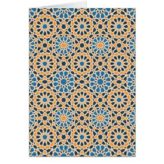Teste padrão de mosaico geométrico cartão comemorativo
