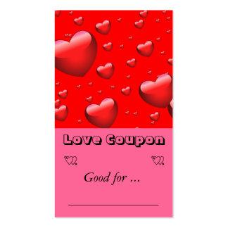 Teste padrão de muitos corações de flutuação cartão de visita