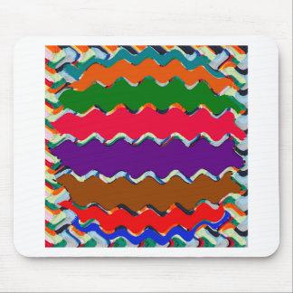 Teste padrão de onda colorido alegre mousepad