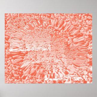 Teste padrão de onda da pétala cor-de-rosa em Phot Pôster