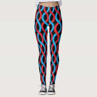 Teste padrão de ondas entrelaçado socialite do leggings