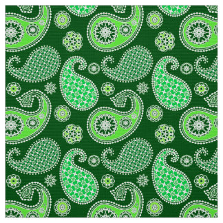 Teste padrão de Paisley, esmeralda e verde de jade Tecido