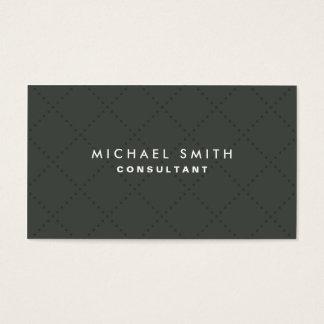 Teste padrão de ponto liso verde elegante cartão de visitas