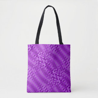 Teste padrão de ziguezague roxo brilhante bolsas tote