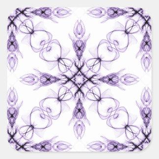 Teste padrão desvanecido floral do Fractal da Adesivo Quadrado