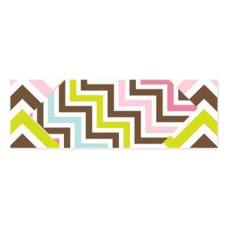 Teste padrão diagonal de Chevron do ziguezague das Cartão De Visita Skinny