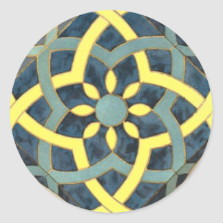 Teste padrão do azulejo de mosaico alguma cor adesivo