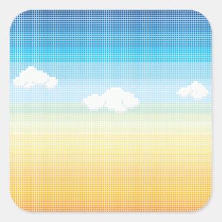 Teste padrão do azulejo de mosaico do céu do por adesivo quadrado