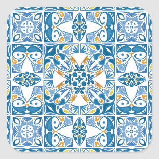 Teste padrão do azulejo do português adesivo quadrado