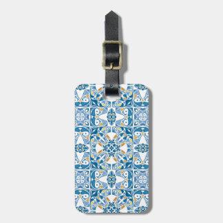 Teste padrão do azulejo do português tag de bagagem