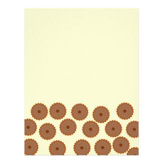 Teste padrão do cupcake do chocolate flyer 21.59 x 27.94cm
