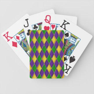 Teste padrão do diamante do Harlequin do carnaval Baralhos De Pôquer