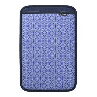 Teste padrão do Fractal dos azuis marinhos 11 Bolsas De MacBook Air