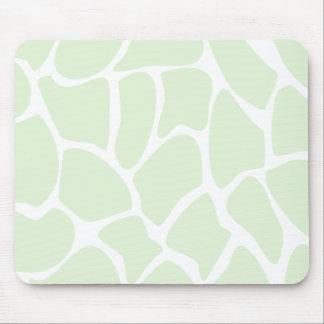 Teste padrão do impressão do girafa no verde da ho mouse pad