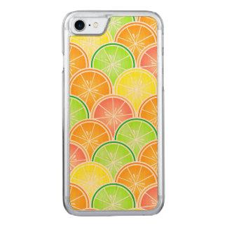 Teste padrão do Scallop do citrino Capa iPhone 7 Carved