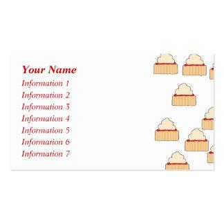Teste padrão do Scone do doce e do creme Cartão De Visita