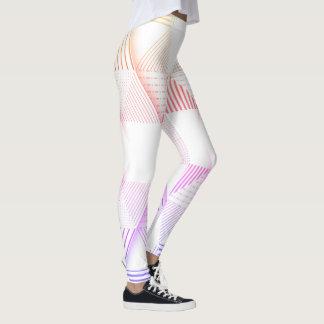 Teste padrão do triângulo # 008 leggings