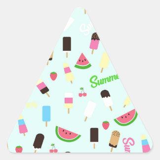 Teste padrão do verão adesivo triangular