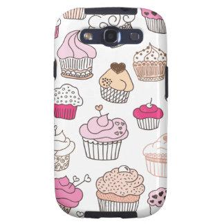 Teste padrão doce do bolo dos doces do cupcake capas personalizadas samsung galaxy s3