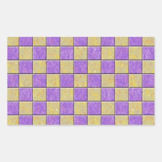 Teste padrão dos azulejos de mosaico roxo e amarel adesivos retangular