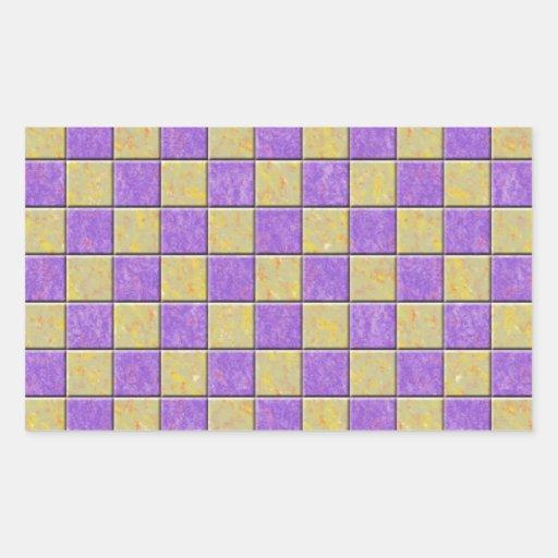 Teste padrão dos azulejos de mosaico roxo e adesivos retangular