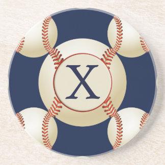 Teste padrão dos esportes das bolas do basebol do porta copos de arenito