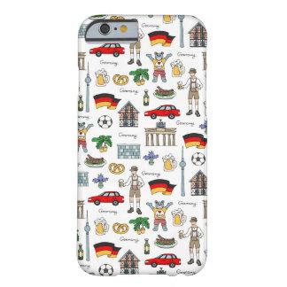 Teste padrão dos símbolos de Alemanha | Capa Barely There Para iPhone 6