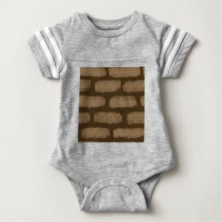 Teste padrão dos tijolos de Brown Camiseta