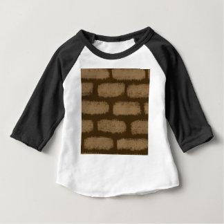 Teste padrão dos tijolos de Brown T-shirt