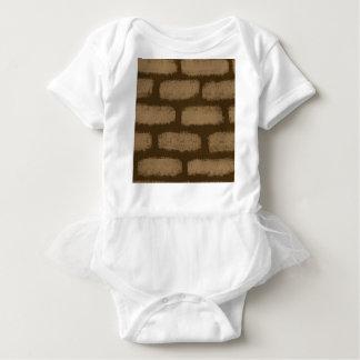 Teste padrão dos tijolos de Brown T-shirts