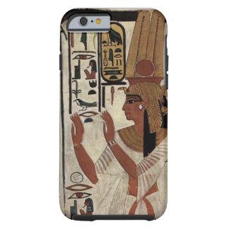 Teste padrão egípcio dos hieroglyphics da deusa capa para iPhone 6 tough